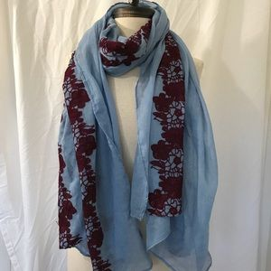 NWOT Embroidered Scarf
